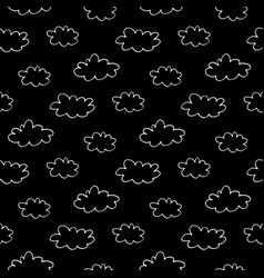 Hand drawn clouds seamless pattern vector