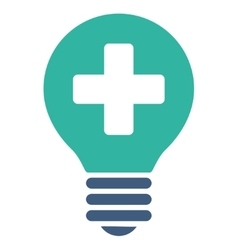 Healh care bulb icon vector