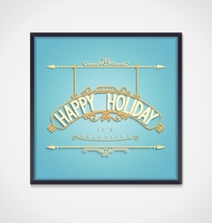 Holiday decoration lettering design vector