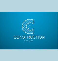 logo template letter c in the style of a vector image