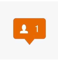 modern follow orange icon vector image