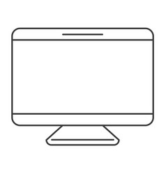 monochrome silhouette of screen monitor vector image vector image