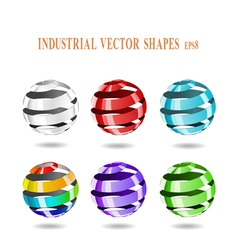 multi-colored balls vector image vector image