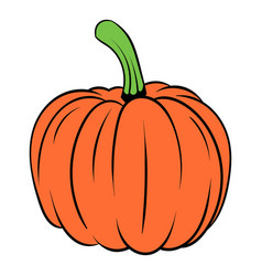 pumpkin icon cartoon vector image