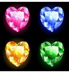 Set of geometric icons diamonds vector
