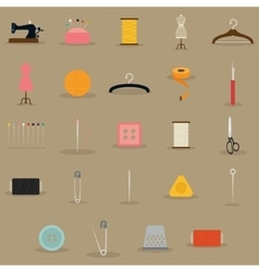Sewing objects vector