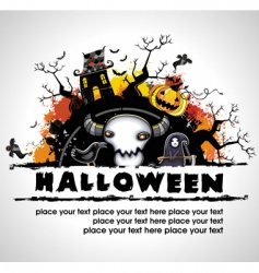spooky halloween composition vector image