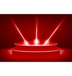 theatrical backgroundscene and red curtainsred vector image vector image