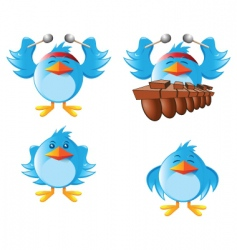 tweeter bird vector image vector image