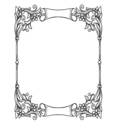 Vintage decorative floral frame vector image