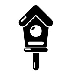 wooden birdhouse icon simple style vector image