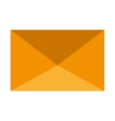 yellow mail envelope graphic vector image vector image