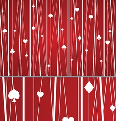 Abstract seamless poker pattern red vector