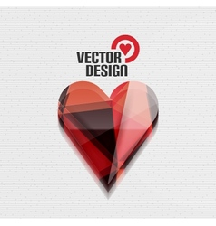 3d glossy heart background vector image