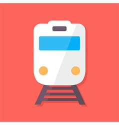 Train flat stylized vector