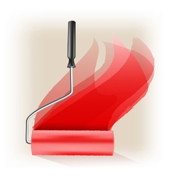 Roller brush vector