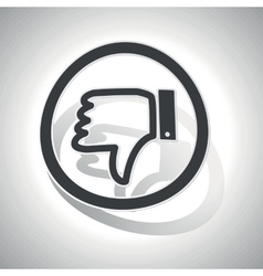 Dislike sign sticker curved vector
