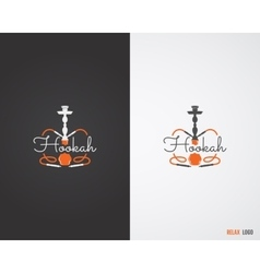 Hookah relax labels badges and design elements vector