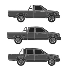 Car pickup truck vector