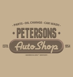 Auto shop retro badges labels and logo vector