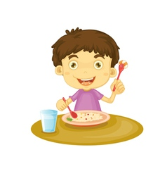 Child eating vector
