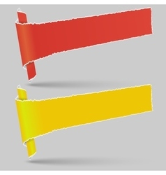 Advertising banners Two rolls of paper torn vector image