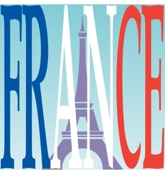 Eiffel tower and french flag vector