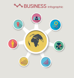 Abstract business circle infographics vector