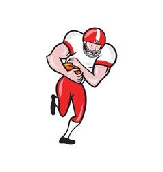 American football running back ball cartoon vector