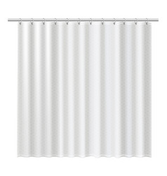 Blank shower curtains mock up to show your design vector