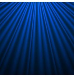 Blue silk background vector image