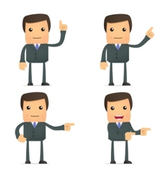 cartoon businessman vector image