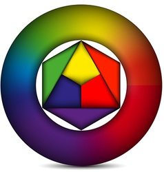 Color circle vector image vector image