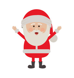 Color silhouette of santa claus with open arms vector