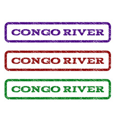 Congo river watermark stamp vector