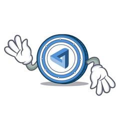 Crazy maidsafecoin mascot cartoon style vector