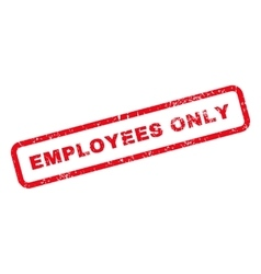 Employees only text rubber stamp vector