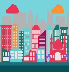 Flat city scene 2 vector