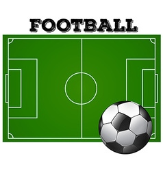 Football soccer field with ball vector image