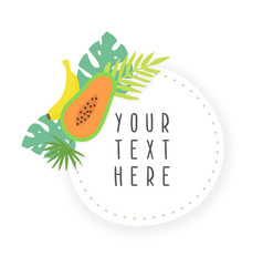 fruit sticker template vector image vector image