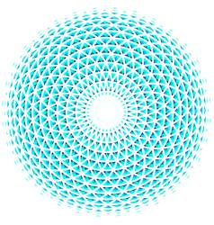 geometric eye mandala colorful design element vector image
