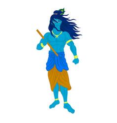 god krishna character vector image