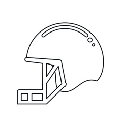 Helmet mask american football equipment outline vector
