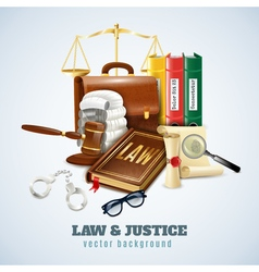 Law and order composition background poster vector