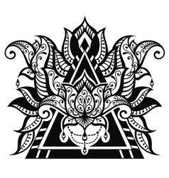 Lotus tattoo vector