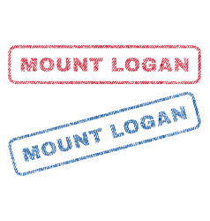 Mount logan textile stamps vector
