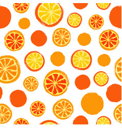 Oranges background painted pattern vector