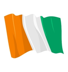 Political waving flag of ivory coast vector