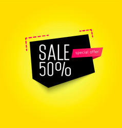 sale banner template 50 off vector image
