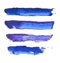 set of navy blue indigo violet watercolor vector image vector image